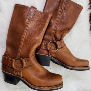Frye Leather Moto Boots